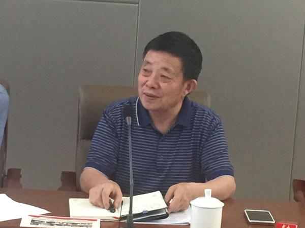 新任商会皖南片主持会长、芜湖勇祥印务包装有限公司董事长李新江主持大会并作总结讲话
